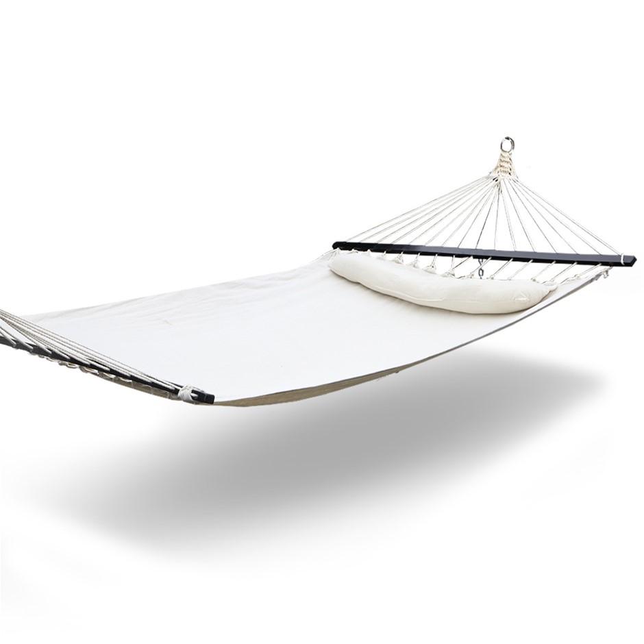 Gardeon Hammock Double Swing Bed with Hanging Kit - Cream