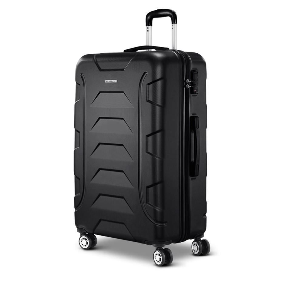 "Wanderlite 28"" Luggage Sets Suitcase Trolley Travel Hard Case Black"