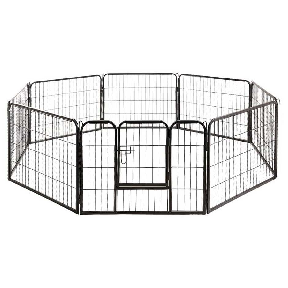 8 Panel Dog Pet Playpen Puppy Metal Play Pen Portable