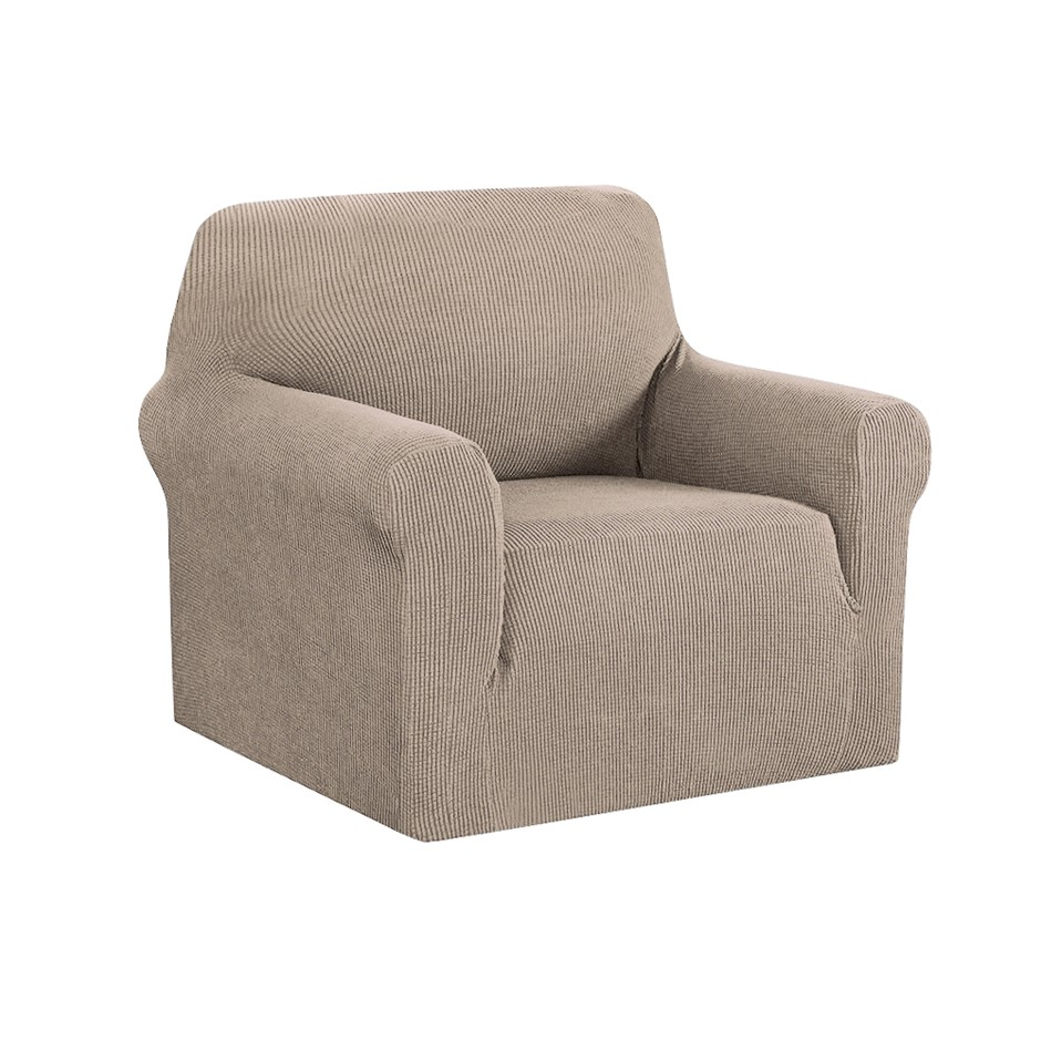 Artiss High Stretch Sofa Lounge Protector Slipcovers 1 Seater Sand