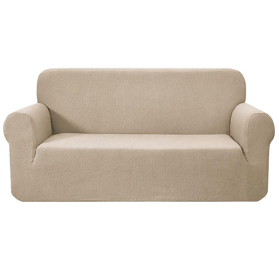 Artiss High Stretch Sofa Lounge Protector Slipcovers 3 Seater Sand