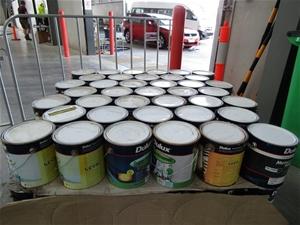 Dulux 4 Litres Pallet of Assorted Paint