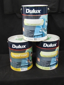 Qty 3 x Dulux 10 Litres Rapid Finish Pai