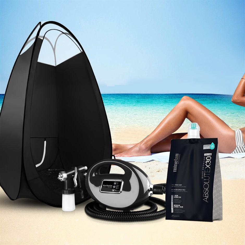 Alba Spray Tan Tanning Kit Tent Booth Spray Gun System Solution ABSX30