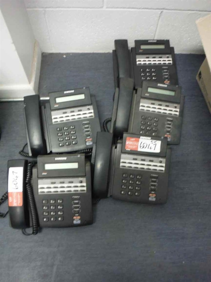 Quantity 5 x Samsung Telephones