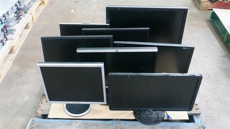 Pallet of Assorted Brand and Model Monitors (8-Pack)