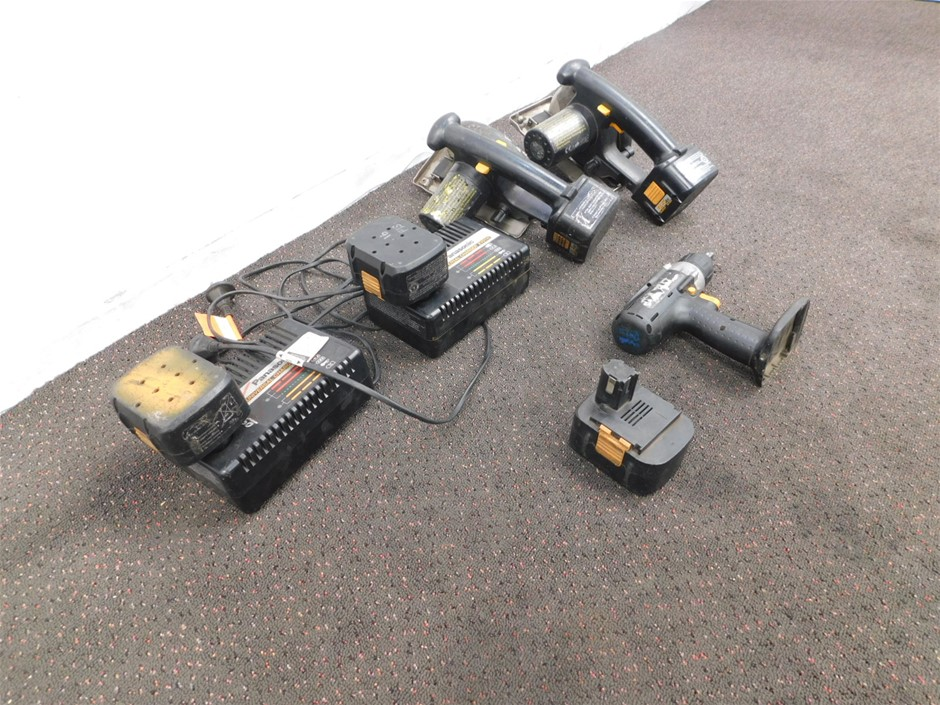 Qty 3 x Panasonic 15.6V Cordless Tools with Chargers & Batteries