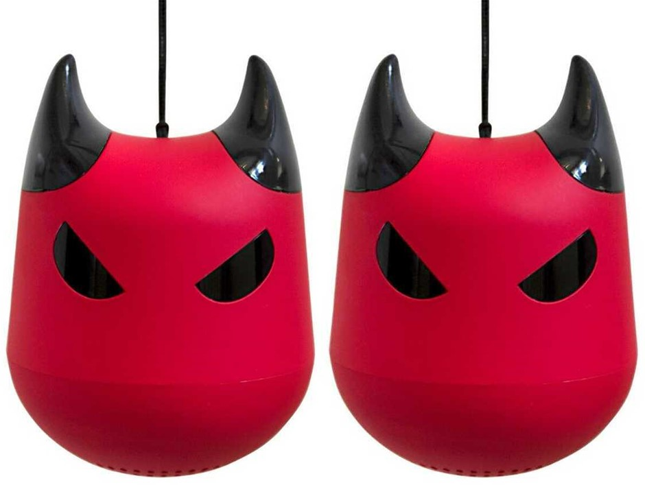 LittleDevil.Rocks Rechargeable Bluetooth Speakers with built-in Mic - PAIR