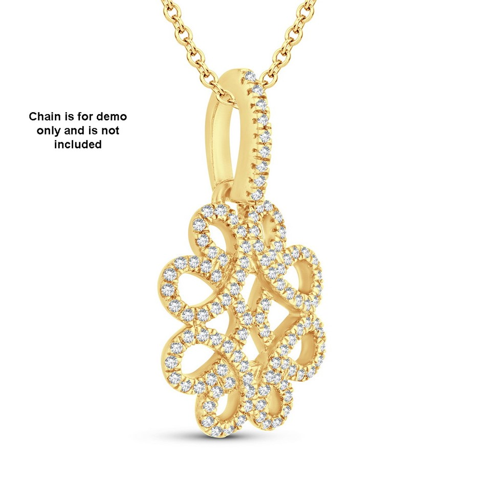 9ct Yellow Gold, 0.17ct Diamond Pendant