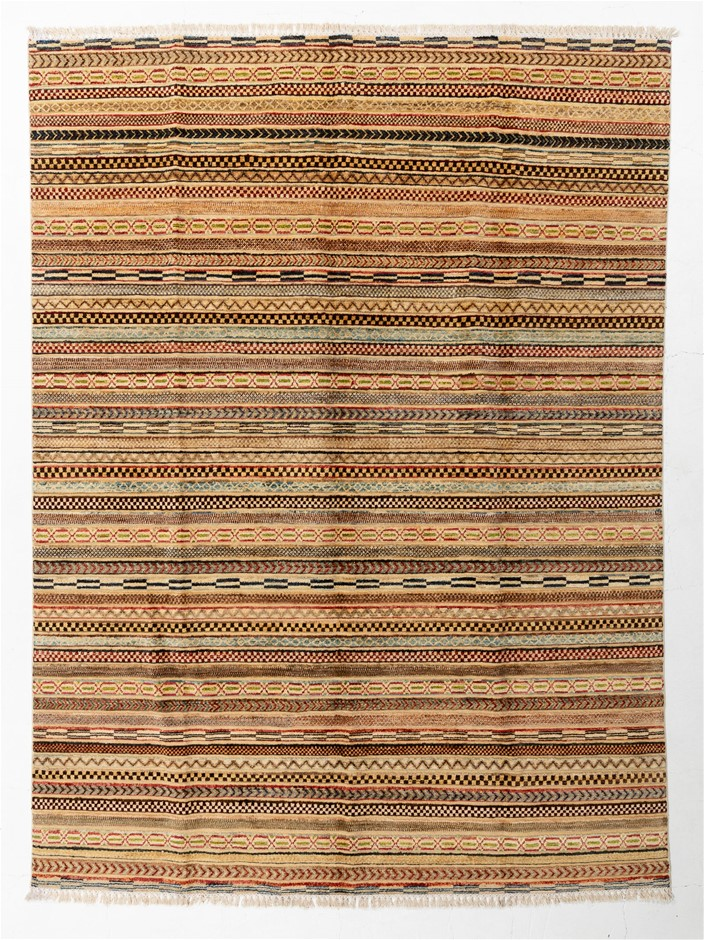 Persian Gabbeh Hand Knotted Wool and Silk Pile SIZE (cm): 216 X 293