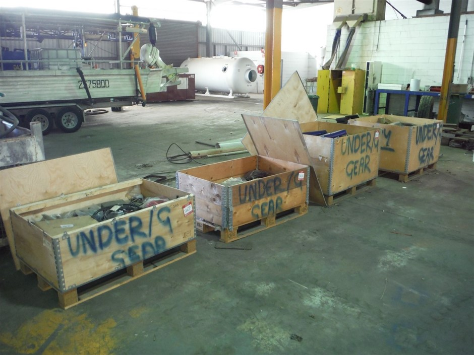 Quantity 4 x Boxes Underground of Equipment / Spare Parts
