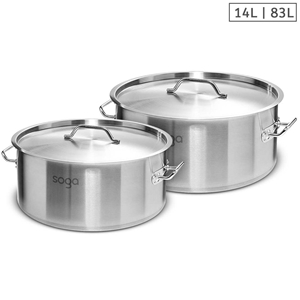 SOGA Stock Pot 14L 83L Top Grade Thick S