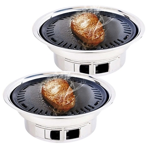 SOGA 2x BBQ Grill Stainless Steel Portab