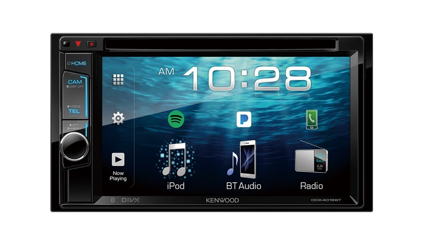 """Kenwood DDX4018BT AV Receiver with 6.2"""" WVGA Clear-coated Resistive Display"""