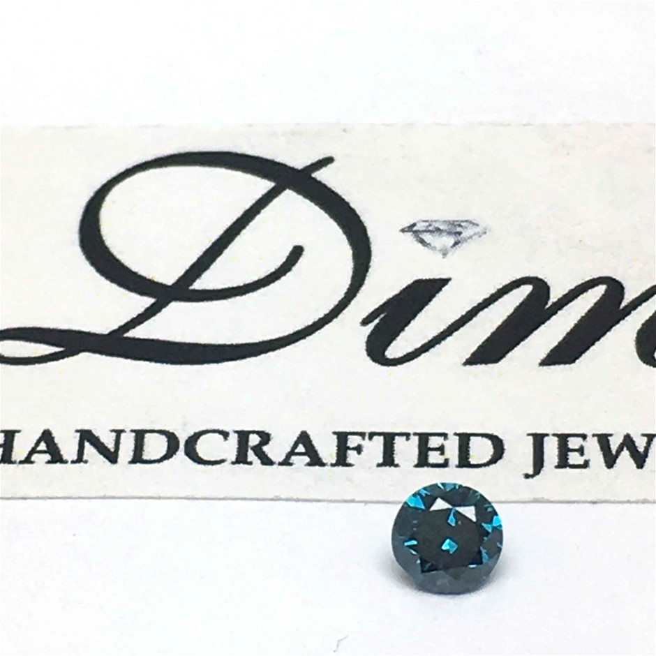 One Stone Blue Diamond 0.27ct in Total