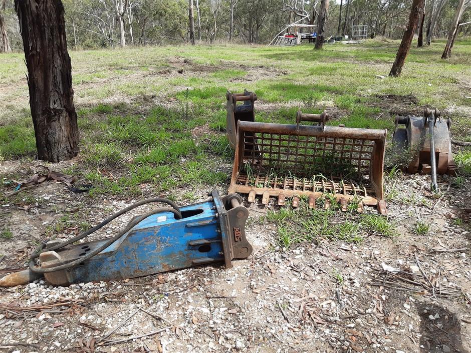 Hydraulic hammer to suit Kubota 8t to 12t excavators