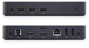 Dell D3100 USB 3.0 docking station, Blac