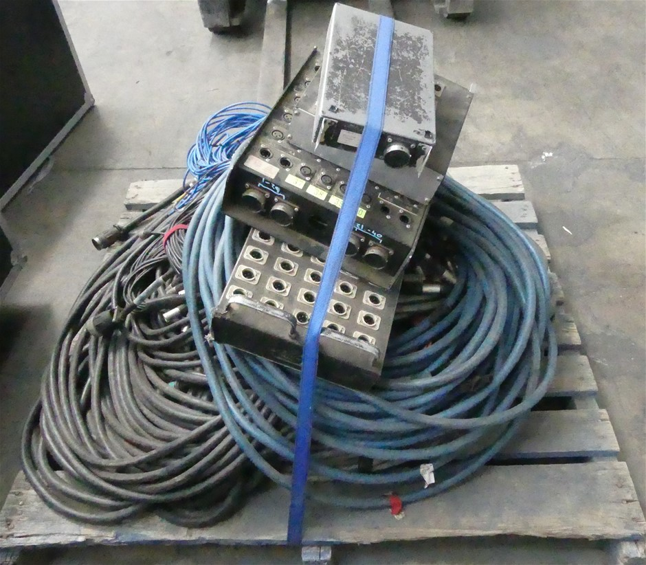 Pallet of Audio multicores - assorted