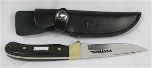 Patrol Hunting Knife with black leather