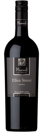 Maxwell Ellen Street Shiraz 2018 (6x 750mL). McLaren Vale, SA.