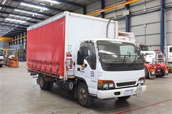 2001 Isuzu 400 Sitec 130 4 x 2 Curtainsider Truck