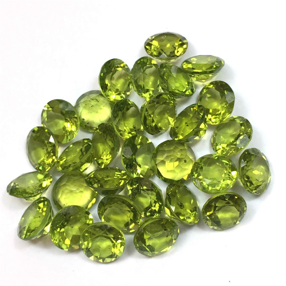 Twenty Stones Peridot Round 40.45ct in Total