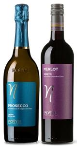Ponte Prosecco DOC NV and Ponte Merlot m