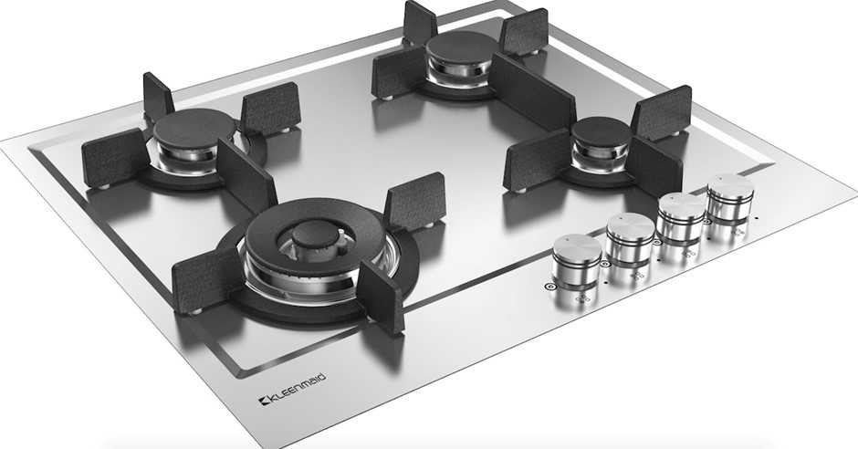 Kleenmaid 60cm Stainless Steel Natural Gas Cooktop (GCT6020)