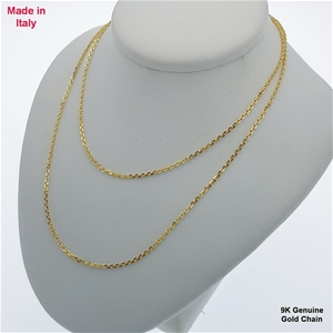 Genuine Italian 9 Karat yellow Gold 50 c