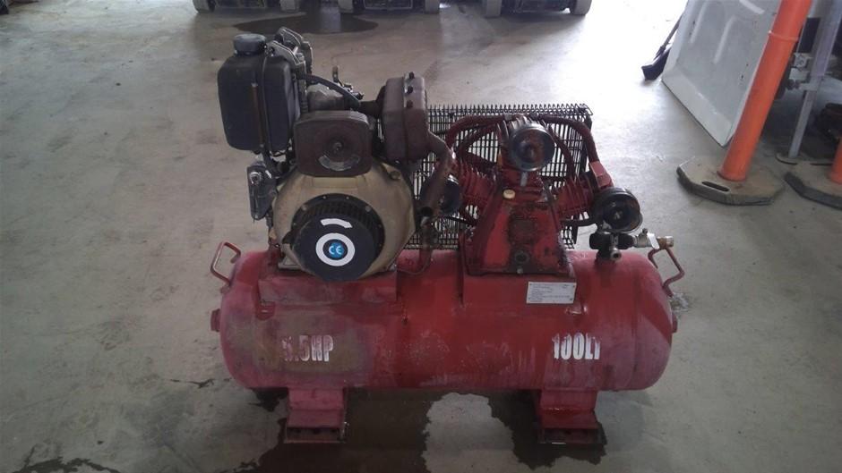 Portable 185CFM Diesel Compressor - Chinchilla