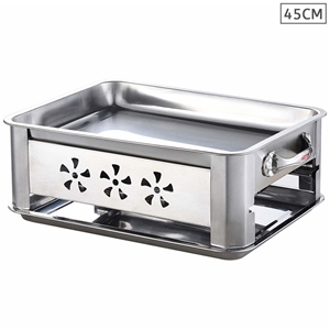 45cm Portable Stainless Steel Outdoor Ch