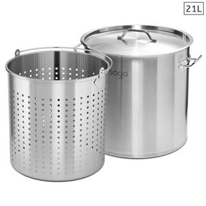 SOGA 21L 18/10 Stainless Steel Stockpot