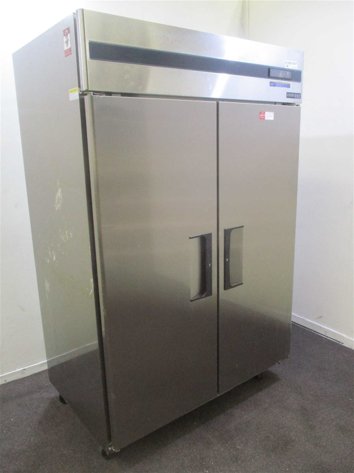 Skope BC126-SFFOS-E 2 Solid Door Upright Stainless Steel Freezer