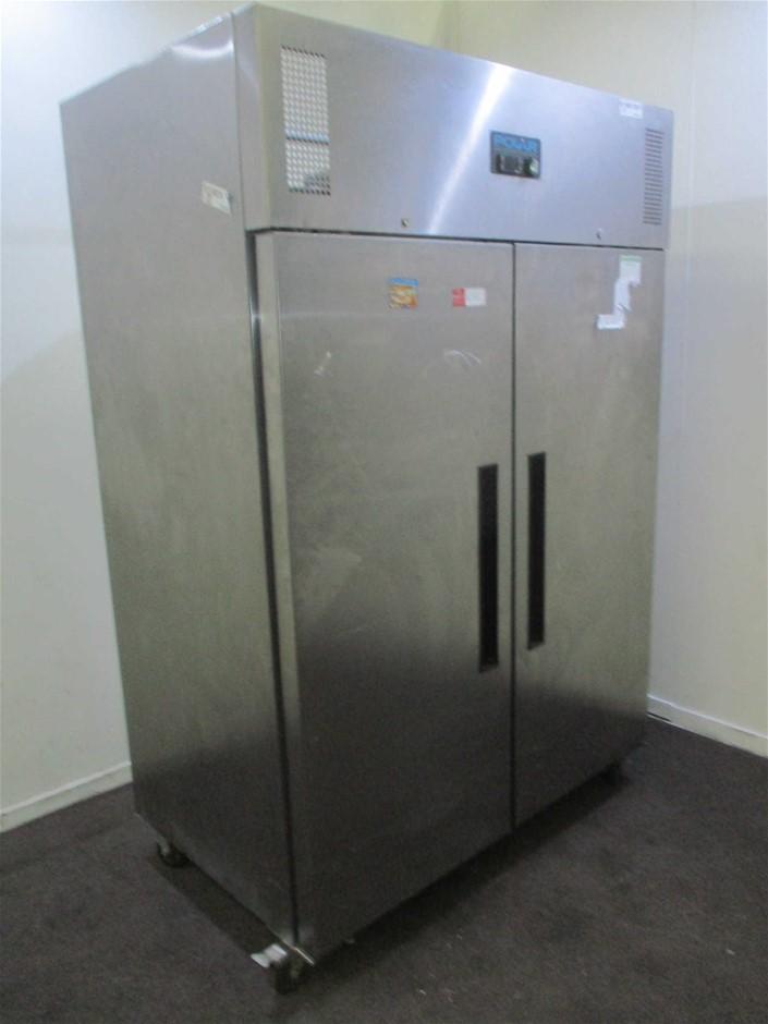 Polar Stainless Steel 2 Door Upright Refrigerator
