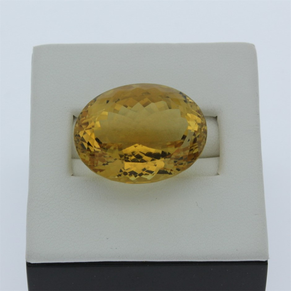 One Loose Citrine, 40.60ct in Total