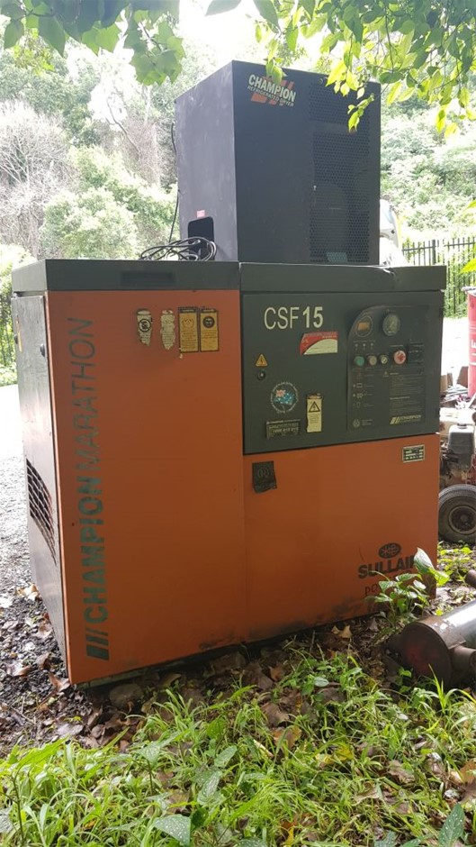 Champion CSF15 Screw Compressor and Air Dryer