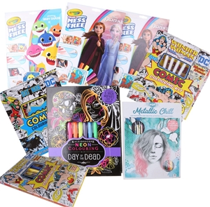 10 x Assorted Colouring Activities Compr