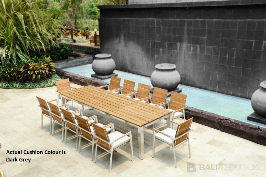 1 x Luxurious ULUWATU 13 Piece Outdoor Dining Setting by Bali Republic