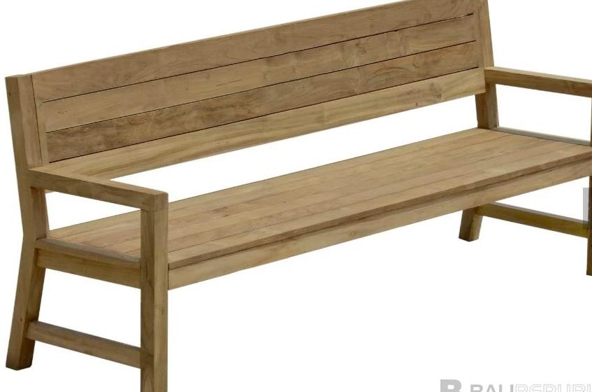 1 x TEMBOK Bench Seat 212 with Dark Grey Seat Cushion by Bali Republic