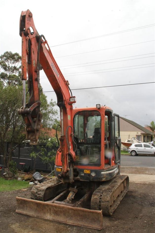 Kubota U45-3, 4.5 Tonne Excavator with Attachments