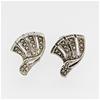 Sterling Silver Marcasite clip earrings
