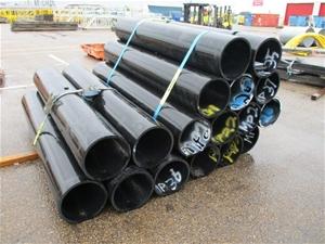 Qty 17 x Plastic Pipes