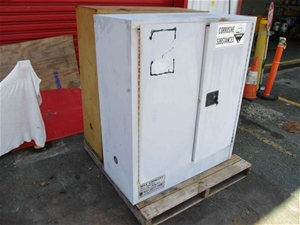 Qty 2 x Hazards Chemical Storage Cabinet