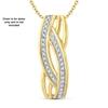 9ct Yellow Gold, 0.06ct Diamond Pendant