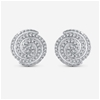 9ct White Gold, 0.18ct Diamond Earring