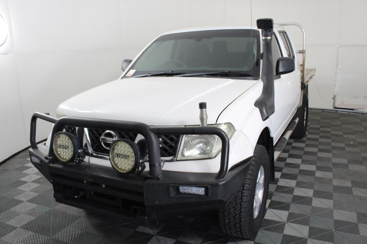 2009 Nissan Navara RX (4x4) D40 Turbo Diesel Manual Dual Cab