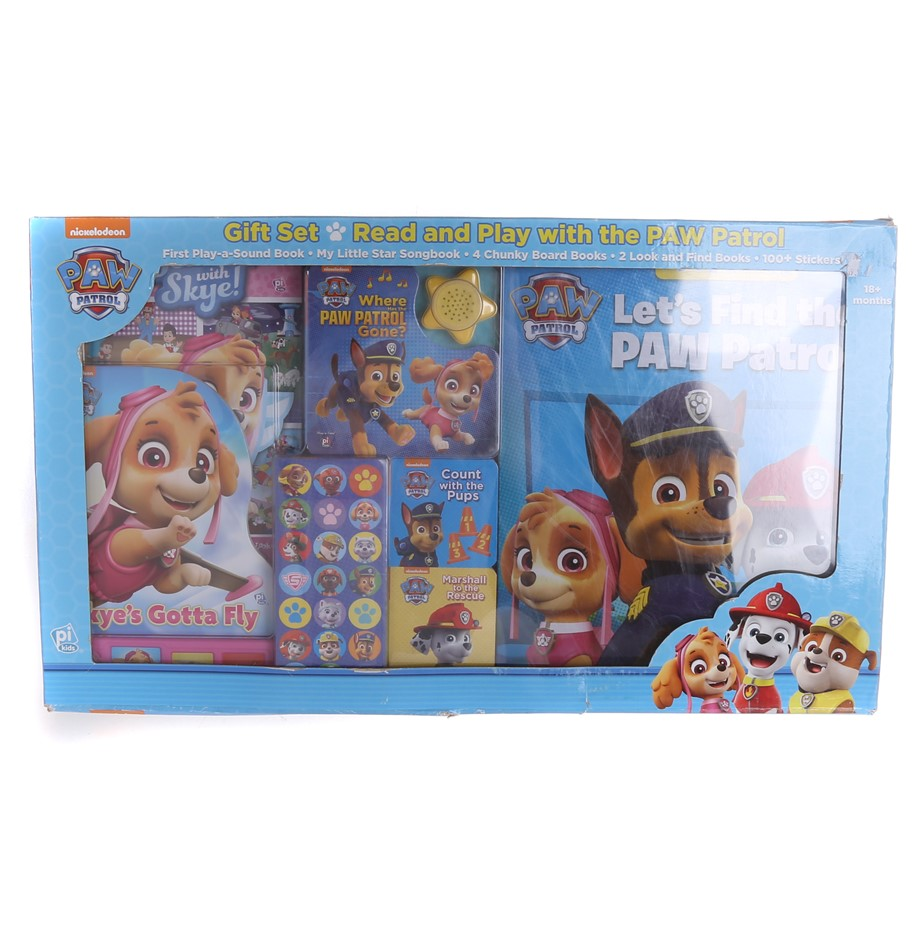 NICKELODEAN Read & Play w/ PAW PATROL Gift Set, Comprising; First Play-A-So