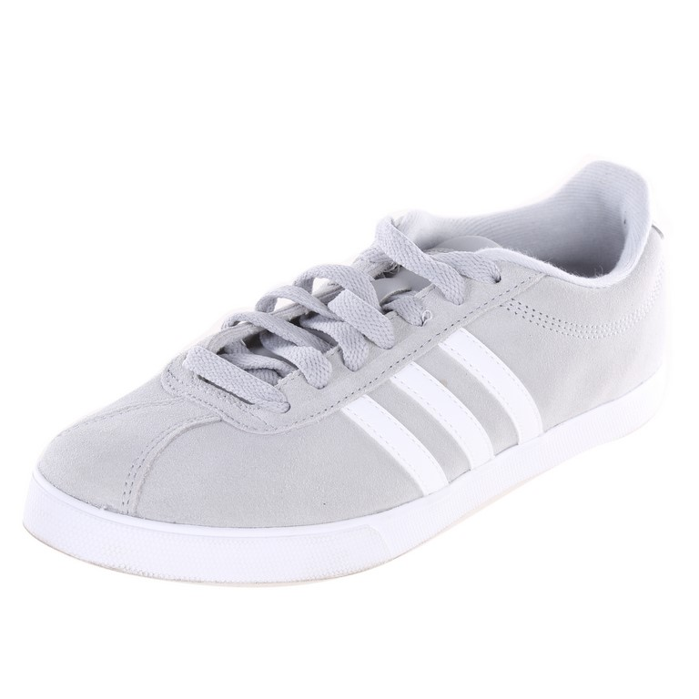 ADIDAS Women`s Courtset Shoes, UK Size 6.5, Grey/White. Buyers Note - Disco