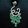Spectacular Genuine Emerald Pendant