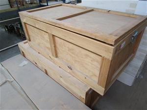 Qty 4 x Wooden Storage Boxes
